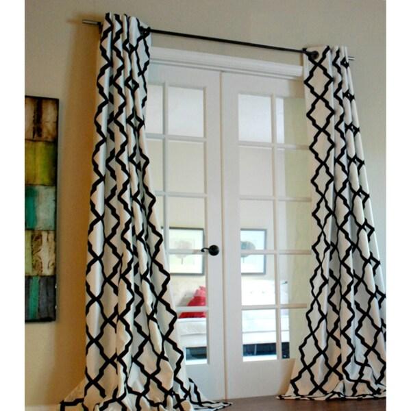 Trellis Bold Flocked Curtain Panel