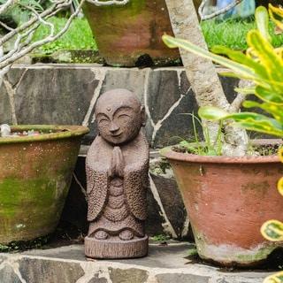 Volcanic Ash Smiling Jizu Statue (Indonesia)