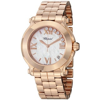 Chopard Women's 277472-5002 'Happy SportRound' Rose Gold Bracelet Quartz Watch
