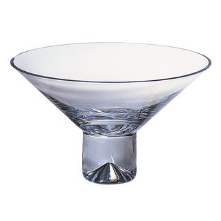 Monaco 15-inch European Mouth Blown Pedestal Bowl