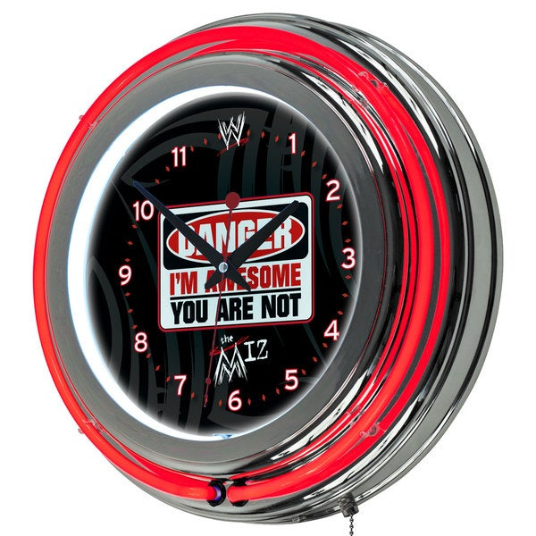 WWE Neon Wall Clock