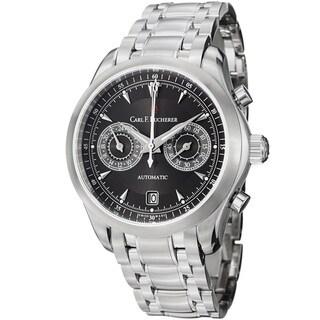 Carl F. Bucherer Men's 10910083321 'Manero' Black Dial Stainless Steel Watch
