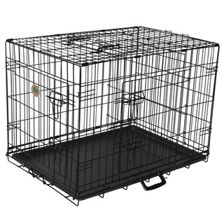 Go Pet Club 42-inch Metal Cage with Three Doors and Divider