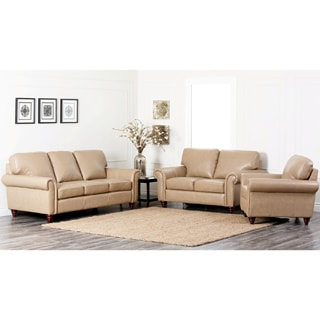 Abbyson Living Parker Premium Top Grain Leather Sofa Set