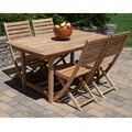 Solid Teak 5-piece Rectangular Dining Set