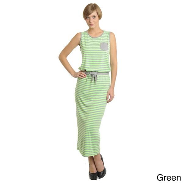 Stanzino Women's One Size Striped Maxi Dress