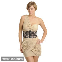 Stanzino Women's Single-shoulder Mini Cocktail Dress