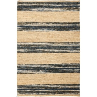 Safavieh Hand-knotted Bohemian Natural/ Blue Wool Rug (8' x 10')