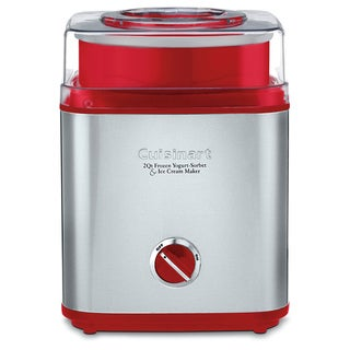 Cuisinart CIM-60RFR Red Pure Indulgence Ice Cream Maker (Refurbished)