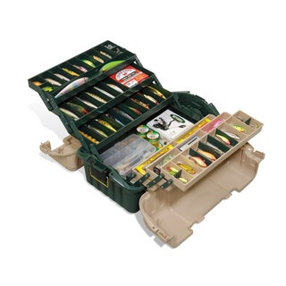 Plano Hip Roof Box 6-Tray Green/Sand