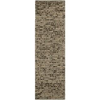 Safavieh Hand-knotted Bohemian Blue Wool Rug (2'6 x 10')
