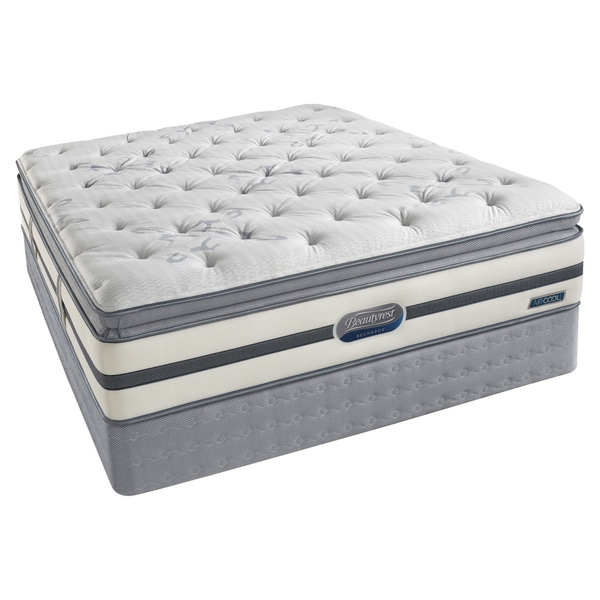 Beautyrest Recharge 39 Maddyn 39 Plush Pillow Top Queen Size Mattress Set Overstock Shopping