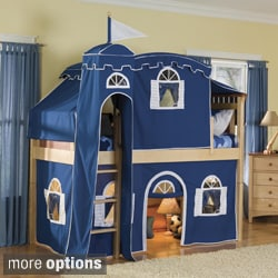 Bennington Low-Loft Twin Bed with Castle Tent