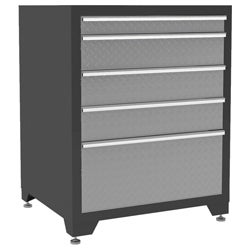 Pro Diamond Plate Series 5-drawer Tool Storage