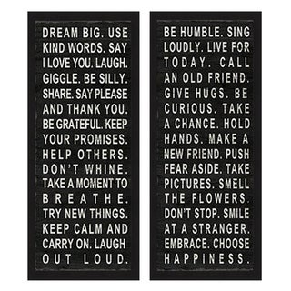 'Dream Big & Be Humble' Framed Art Print