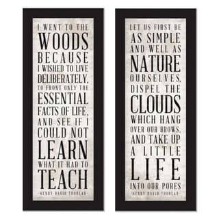 'Well as Nature & Teach' Framed Art Print
