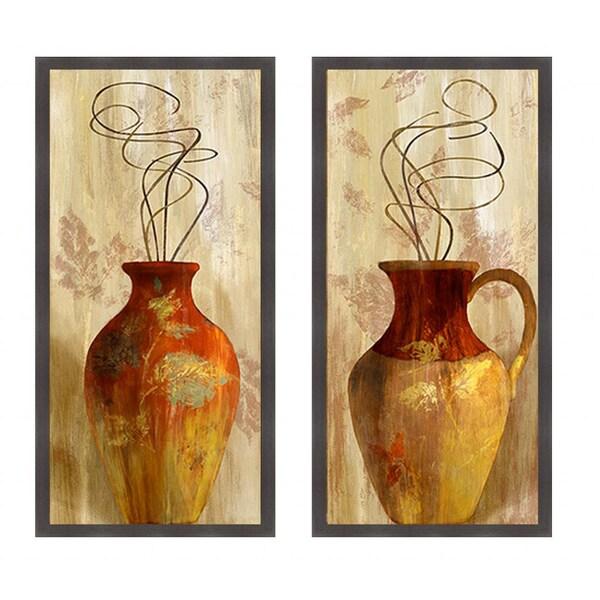 Lanie Loreth 'Fall Vessel I & II' Framed Art Print