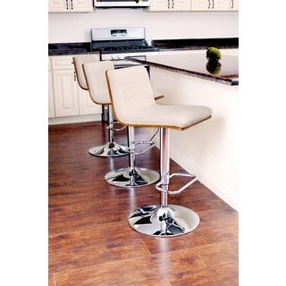 Vasari Mid-century Modern Wood Adjustable Barstool