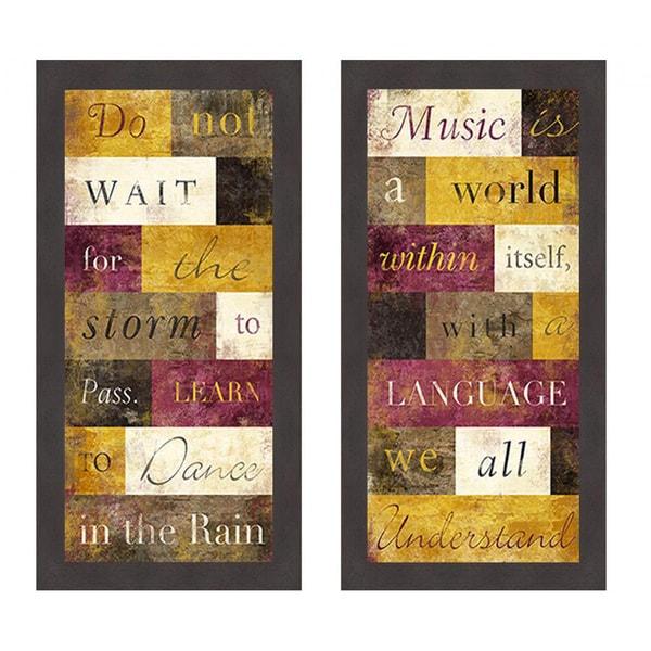 'Dance in the Rain & We All Understand' Framed Art Print
