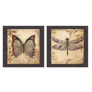 Patricia Pinto 'Butterfly & Dragonfly' Framed Art Print