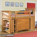 Bennington Low-Loft Storage Twin Bed with Essex 5-drawer Dresser and Low-Loft Bookcases Set