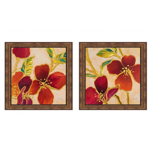 Lanie Loreth 'Happy Together I & II' Framed Art Print