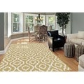 Metropolis Yellow Area Rug (7'10 x 10'3)