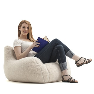 BeanSack 'Big Joe Lusso' Sherpa Bean Bag Chair