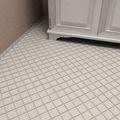 SomerTile 12.25x12.25-inch Victorian Quad Glossy White Porcelain Mosaic Floor and Wall Tile (Case of 10)