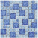 SomerTile 11.75x11.75-in Watermark Versailles Adriatic Porcelain Mosaic Tile (Pack of 10)