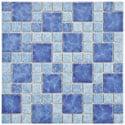 SomerTile 11.75x11.75-in Watermark Versailles Adriatic Porcelain Mosaic Tile (Pack of 10)