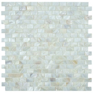 SomerTile Seashell Subway White Mosaic Tile (Pack of 10)