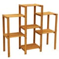 Cypress Wood 7-tier Plant Stand