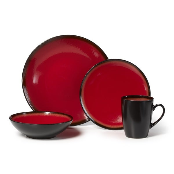 Pfaltzgraff 16 Piece Orion Red Dinnerware Set
