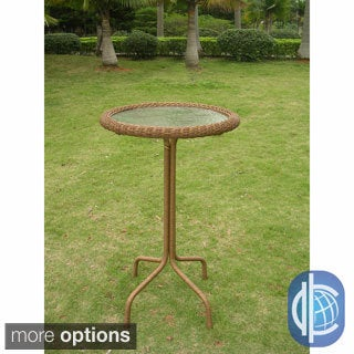 International Caravan Resin Wicker Bar-height Outdoor Bistro Table