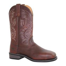 Men's AdTec 9555 11in Western Pull On Work Boot Square ST Brown