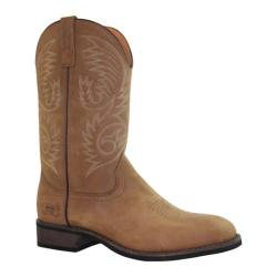 Men's AdTec 9558 11in Western Pull On Work Boot Round ST Brown