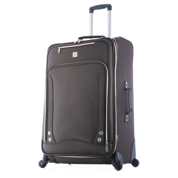 Olympia Skyhawk 26-inch Expandable Brown Expandable Spinner Upright Suitcase