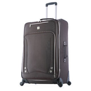 Olympia Skyhawk 26-inch Brown Expandable Spinner Upright Suitcase