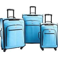 American Tourister AT POP 3 Piece Spinner Set Aqua Blue