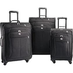 American Tourister AT POP 3 Piece Spinner Set Black