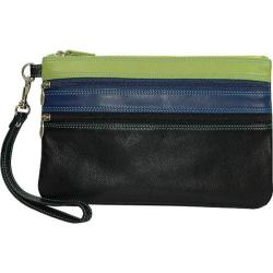 Women's Belarno A212 Large Trizip Clutch Black Rainbow