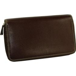 Women's Belarno A223 Double Zip Clutch Brown