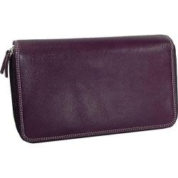 Women's Belarno A223 Double Zip Clutch Purple
