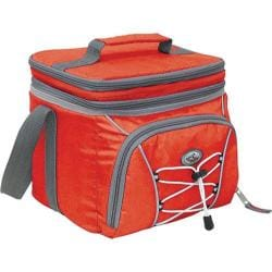Cool Carry 9-Can 2-Section Expandable Cooler w/ Liner Red