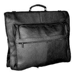 David King Leather 204 Deluxe Garment Bag Black