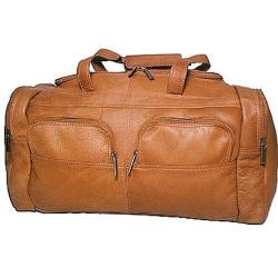 David King Leather 302 Sport Duffel Tan