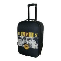 Elvis Presley Signature Product Elvis and Sun Upright Luggage Black