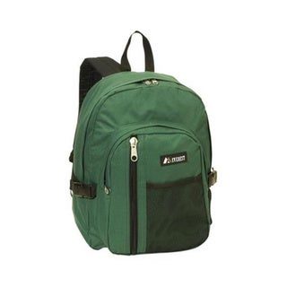 Everest Green Backpack with Front Mesh Pocket