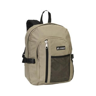 Everest Khaki Backpack with Front Mesh Pocket